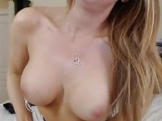 Hot Blonde With Glasses Rides Her Dildo