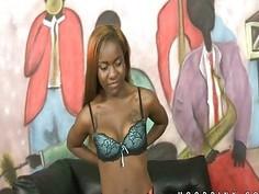 Black chick Little Bambi hot interracial