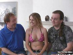Hottie Clueless Blonde Threesome Big Tits