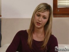 Cute blonde teen Tara B comes to the office of the modelling agency