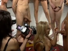 Group sex orgy with fuckable Chantelle Stevens