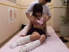 Sweet Japanese Girl Has A Masseur Working His Hands On Her