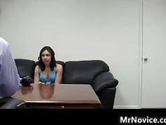 Teen Does A Black Couch Audition