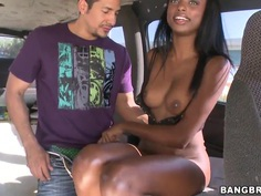 Tiffany Tailor gets naked in bang bus