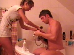 Young chic foot jobs her kinky husband
