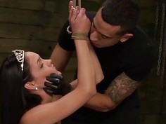 Beauty Queen Jasmine Caro Endures Another Rope Bondage Session with Rough Penetration