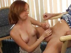 Teen Babe Jerks Perverted Old Mans Monster Cock
