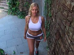Sporty girl gets fucked in the ass