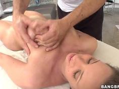 Big ass Kelly Divine gets full body massage