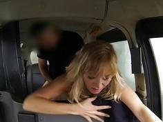 Big hooters whore nailed by fake driver