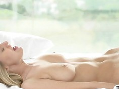 Busty blonde babe Natalia Starr pussy rammed real nice