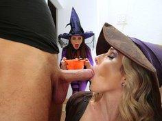 Dirty and naughty Halloween night