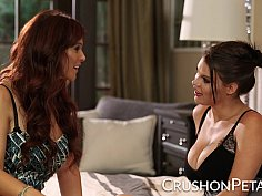 Peta Jensen licks her girlfriend Syren De Mer
