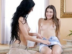 Sizzling sex between 2 lesbian sweethearts
