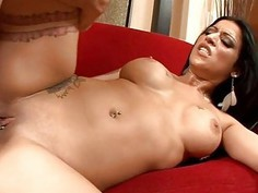Stud is pounding chick in hardcore doggy style